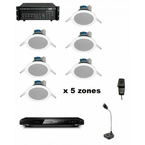 5 ZONE BGM SYSTEMS PACKAGE
